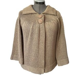 Parkhurst swing style cardigan with beaded buttons